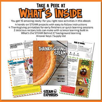 Thanksgiving STEAM Activity Ebook by STEAM Explorers