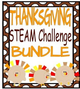 Thanksgiving STEAM Challenge BUNDLE