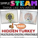 Thanksgiving STEAM Challenge - Turkey Art & Writing