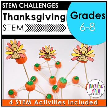Thanksgiving STEM Activities   STEM Challenges Middle School