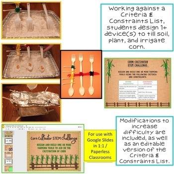 Thanksgiving STEM Challenge Corn Cultivator 1:1 PAPERLESS