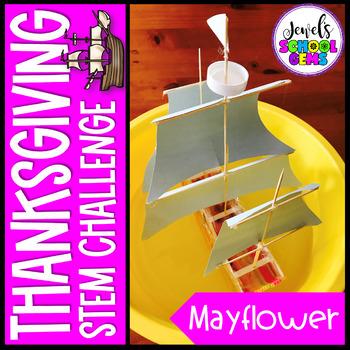 Thanksgiving STEM Challenge (Mayflower Thanksgiving STEM Activity)