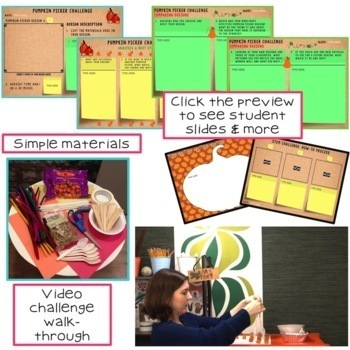 Thanksgiving STEM Challenge Pumpkin Picker 1:1 PAPERLESS