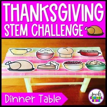 Thanksgiving STEM Challenge (Thanksgiving Table Thanksgiving STEM Activity)