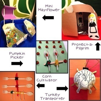 Thanksgiving STEM Challenges: 5-in-1 Digital-Paperless Bundle