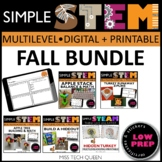 Thanksgiving STEM Challenges 5 Fall Activities Digital & P