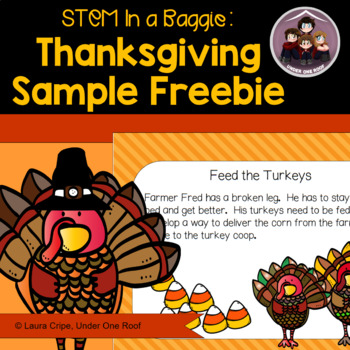Thanksgiving STEM Freebie: A STEM in a Baggie Sample