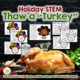 Christmas STEM: Turkey Thaw-No Real Turkeys Needed!