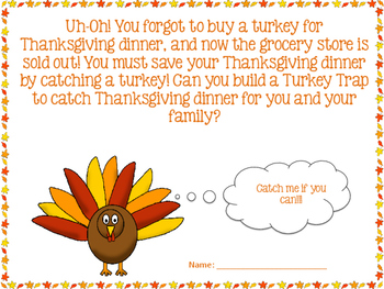 Thanksgiving STEM - Turkey Trap