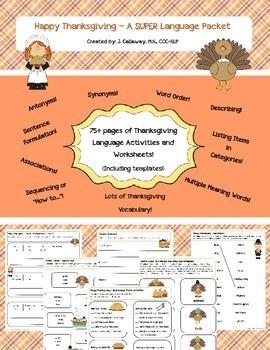 Thanksgiving SUPER Language Packet!