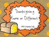Thanksgiving Same or Different