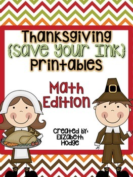 Thanksgiving {Save Your Ink} Printables