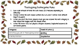 Thanksgiving Scattergories