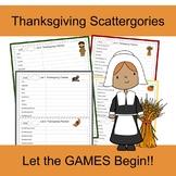 Thanksgiving Scattergories Game