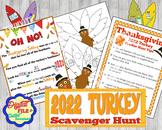 Thanksgiving Scavenger Hunt; 2020 Turkey; Feather Hunt; Thankful; Treasure Hunt