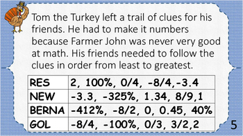 Thanksgiving Scavenger Hunt - Middle School Math