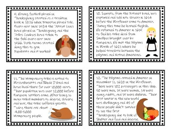 Thanksgiving Scavenger Hunt and Scoot Task Cards - New Product!