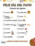 Thanksgiving Scavenger Hunt in Spanish