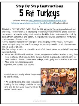 School Plays for Children - Thanksgiving Activities  -  Music with Jack Hartmann
