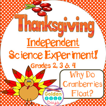 Thanksgiving Independent Science Experiment Cranberries & 3 Days Morning Work