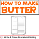 Thanksgiving Science- Making Butter