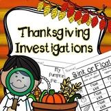 Thanksgiving Science, Thanksgiving Investigation, Thanksgiving Exploration, STEM