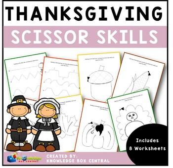 Thanksgiving Scissor Skills