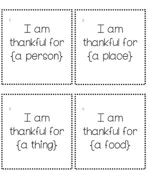 Thanksgiving Scoot - I Am Thankful For...