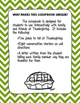 Thanksgiving Scrapbook