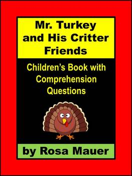 Thanksgiving Self-Contained Children's Book and Literacy Activity