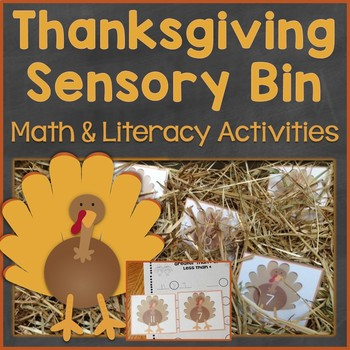 Thanksgiving Sensory Bin Math & Literacy Activities, Centers