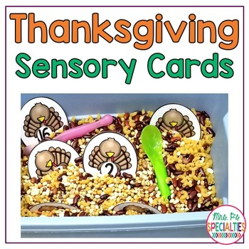 Thanksgiving Sensory Cards - Water & Sensory Bins (Special Ed & Autism Resource)