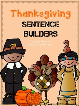 Thanksgiving Sentence Builder
