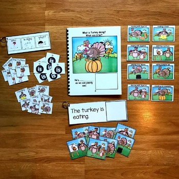 Thanksgiving Sentence Builder Book:  What is Turkey Doing?