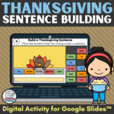 Thanksgiving Sentence Building Digital Activity with Parts
