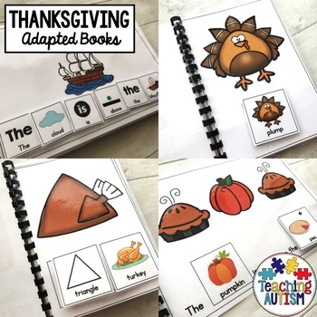 Thanksgiving Adapted Books (For Special Education)