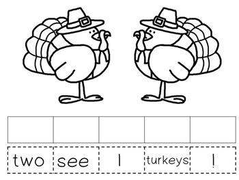 Morning Meeting Sentence Building Activity! *November/Thanksgiving Edition*