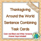 Thanksgiving Sentence Combining Task Cards