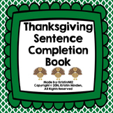 Thanksgiving Sentence Completion Book