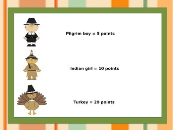 Thanksgiving Sentence Fluency