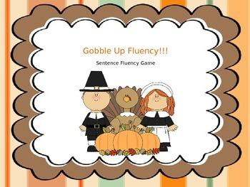 Thanksgiving Sentence Fluency