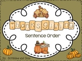 Thanksgiving Sentence Order