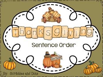 Thanksgiving Sentence Order