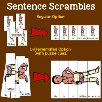Thanksgiving Sentence & Paragraph Scrambles