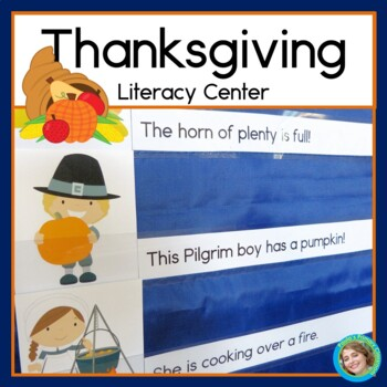Thanksgiving Sentence Picture Match Reading Center