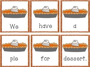 Thanksgiving Sentence Scramble