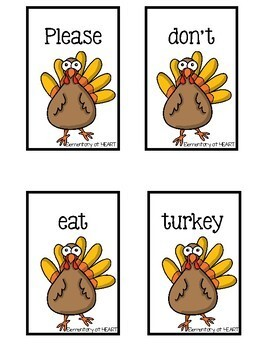 Thanksgiving Sentence Scramble FREEBIE