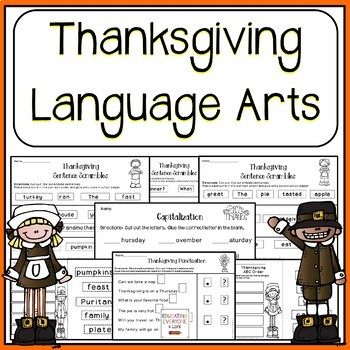Thanksgiving Language Arts and Reading Activities
