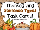 "Thanksgiving ""Sentence Types"" Task Cards"