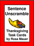 Thanksgiving Sentence Unscramble